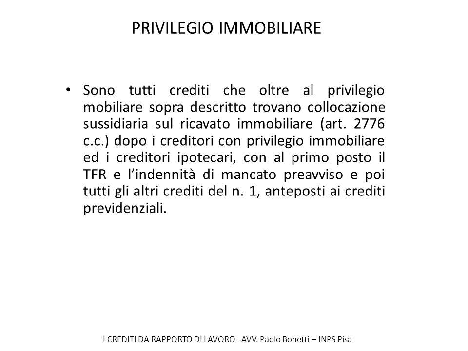 PRIVILEGIO IMMOBILIARE