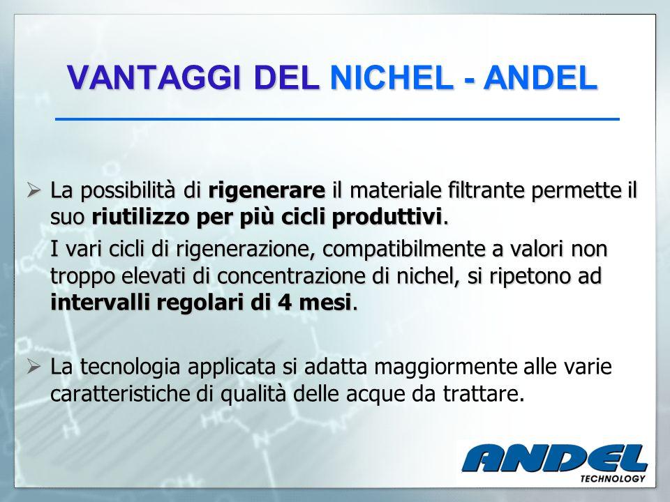 VANTAGGI DEL NICHEL - ANDEL