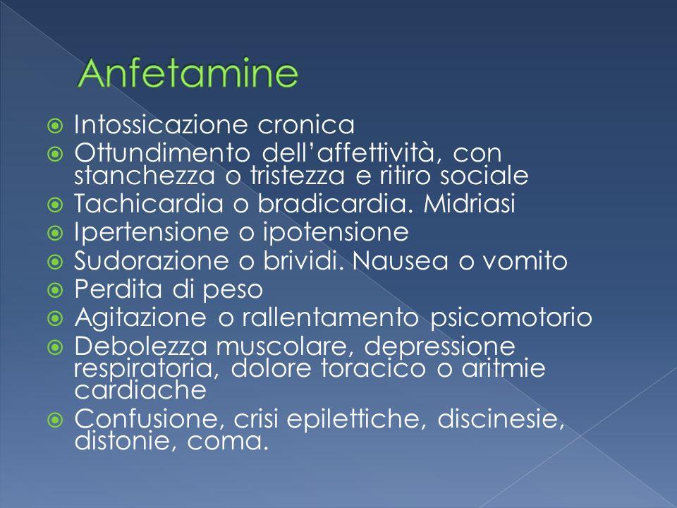 Anfetamine Intossicazione cronica