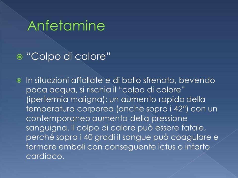 Anfetamine Colpo di calore