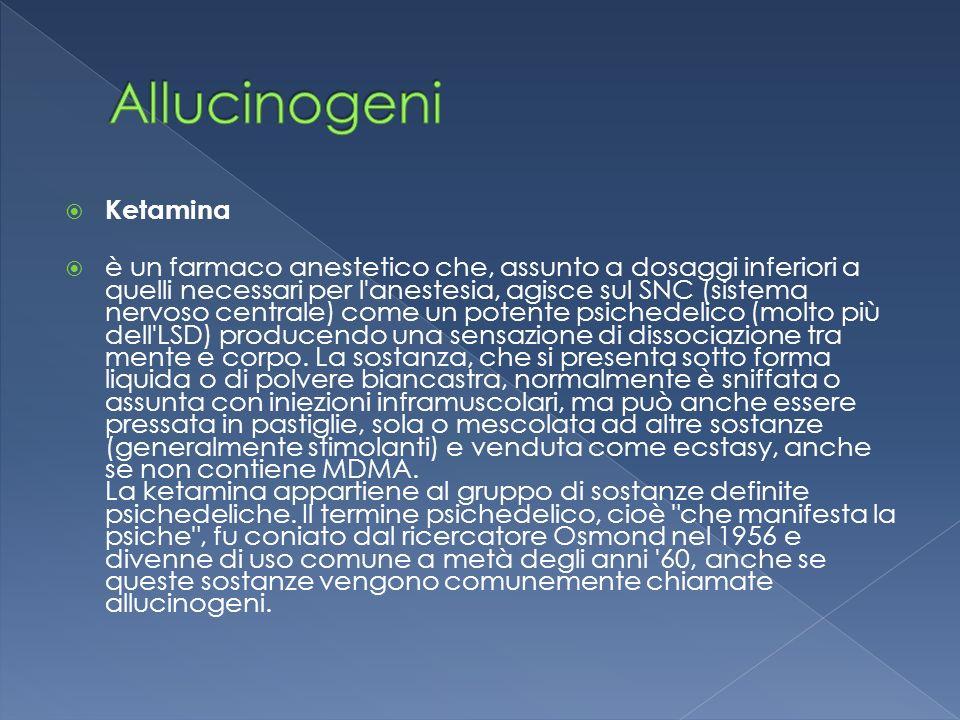 Allucinogeni Ketamina