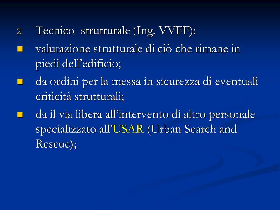 Tecnico strutturale (Ing. VVFF):