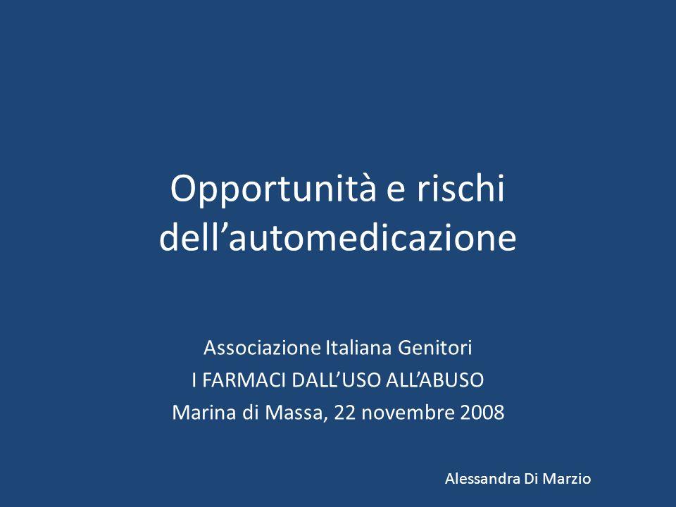 Opportunità e rischi dell'automedicazione