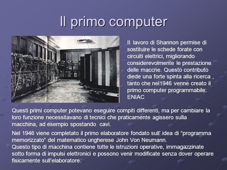 Il primo computer
