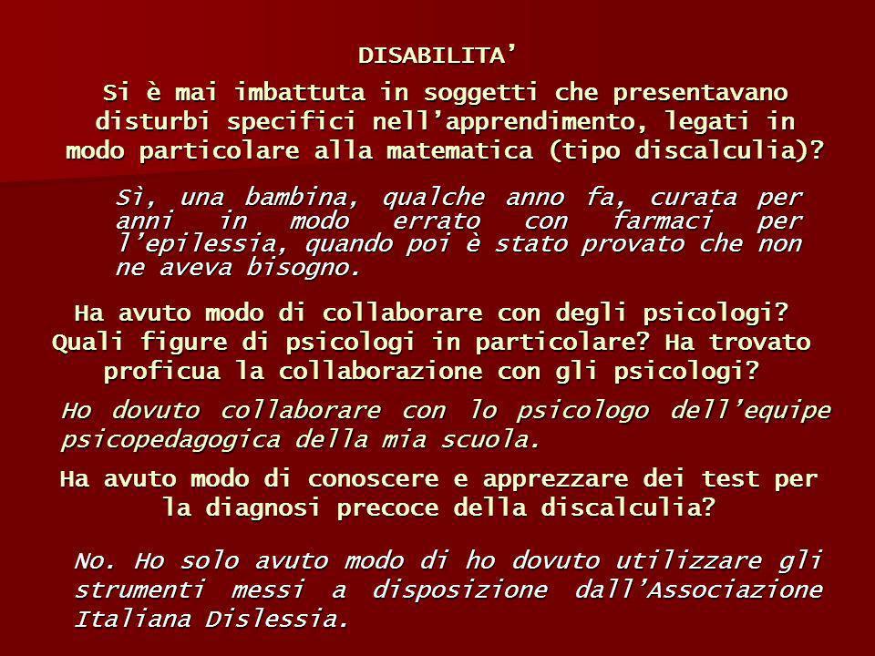 DISABILITA'
