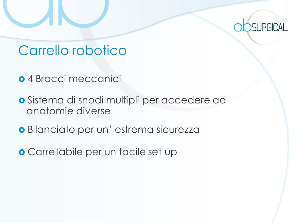 Carrello robotico 4 Bracci meccanici