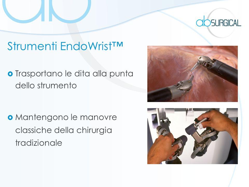Strumenti EndoWrist™ Trasportano le dita alla punta dello strumento