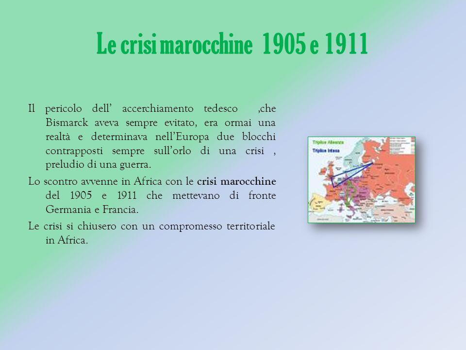 Le crisi marocchine 1905 e 1911
