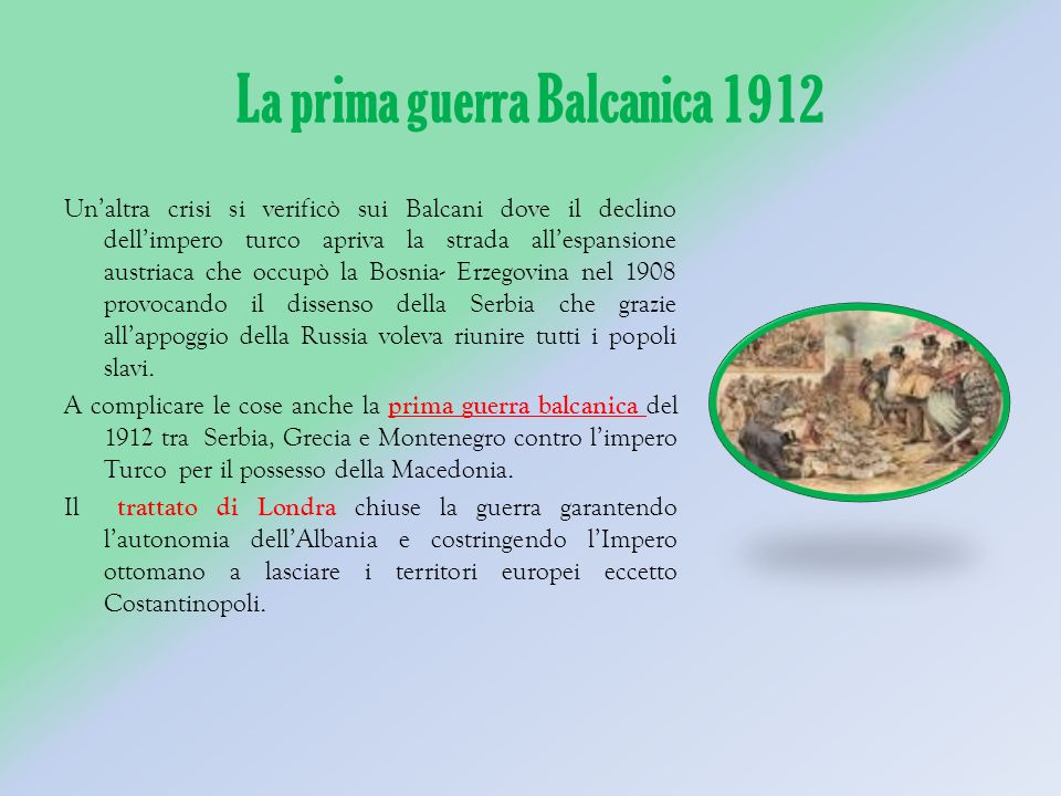 La prima guerra Balcanica 1912