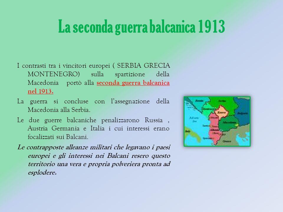 La seconda guerra balcanica 1913