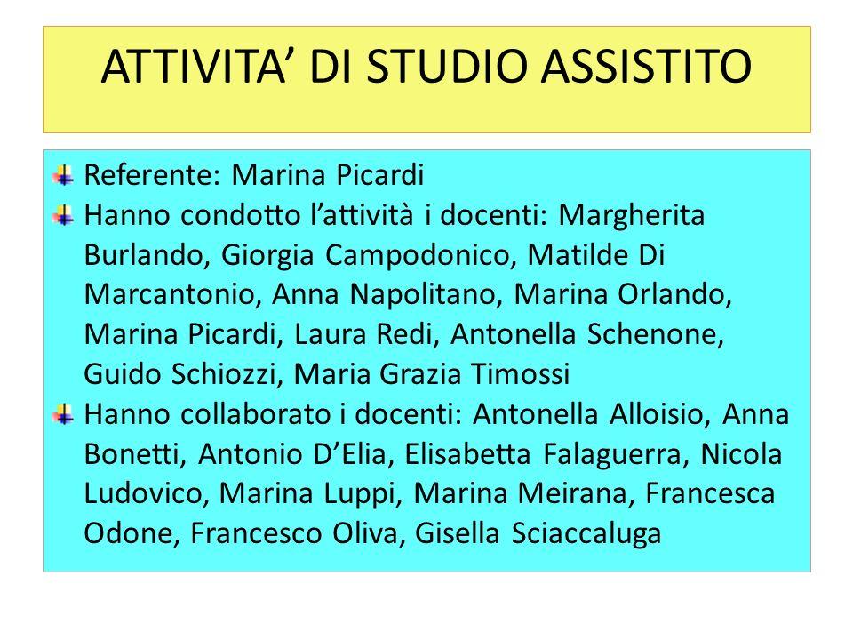 ATTIVITA' DI STUDIO ASSISTITO