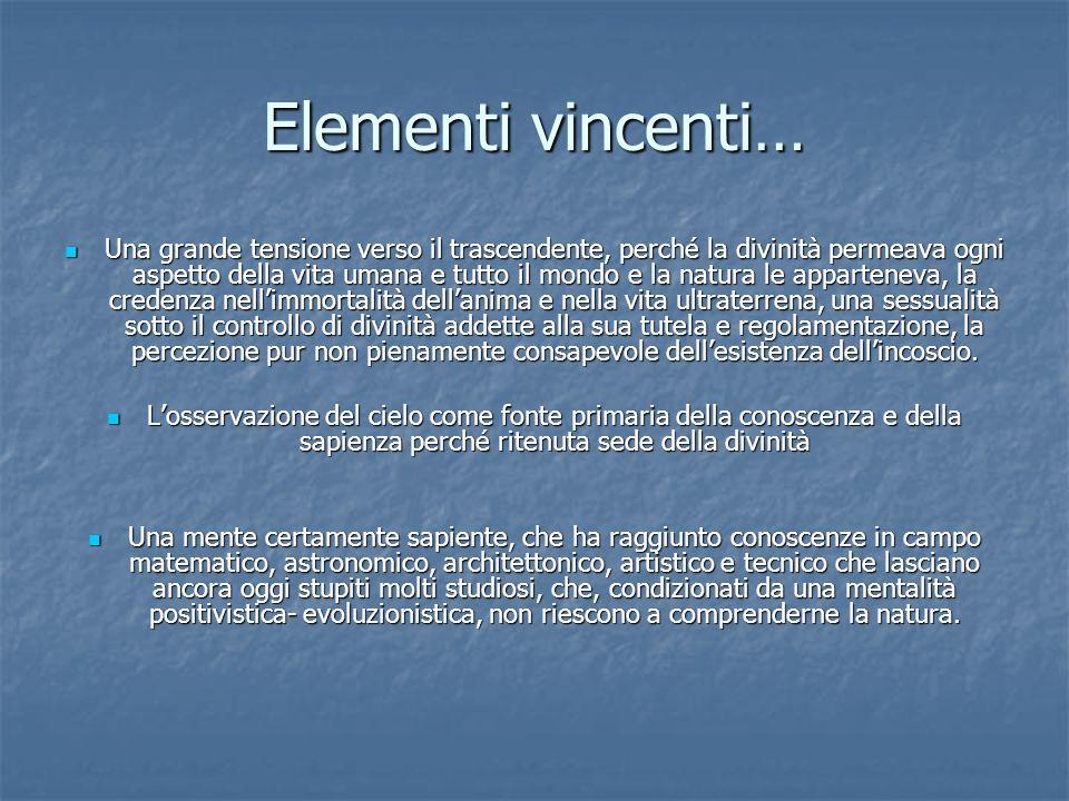 Elementi vincenti…
