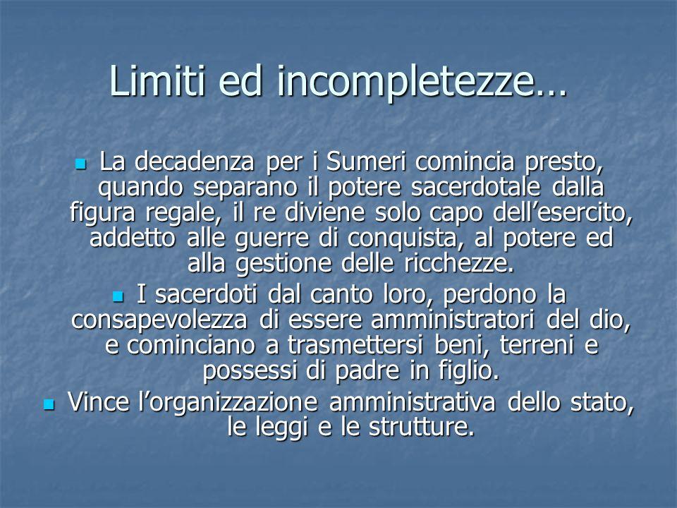 Limiti ed incompletezze…