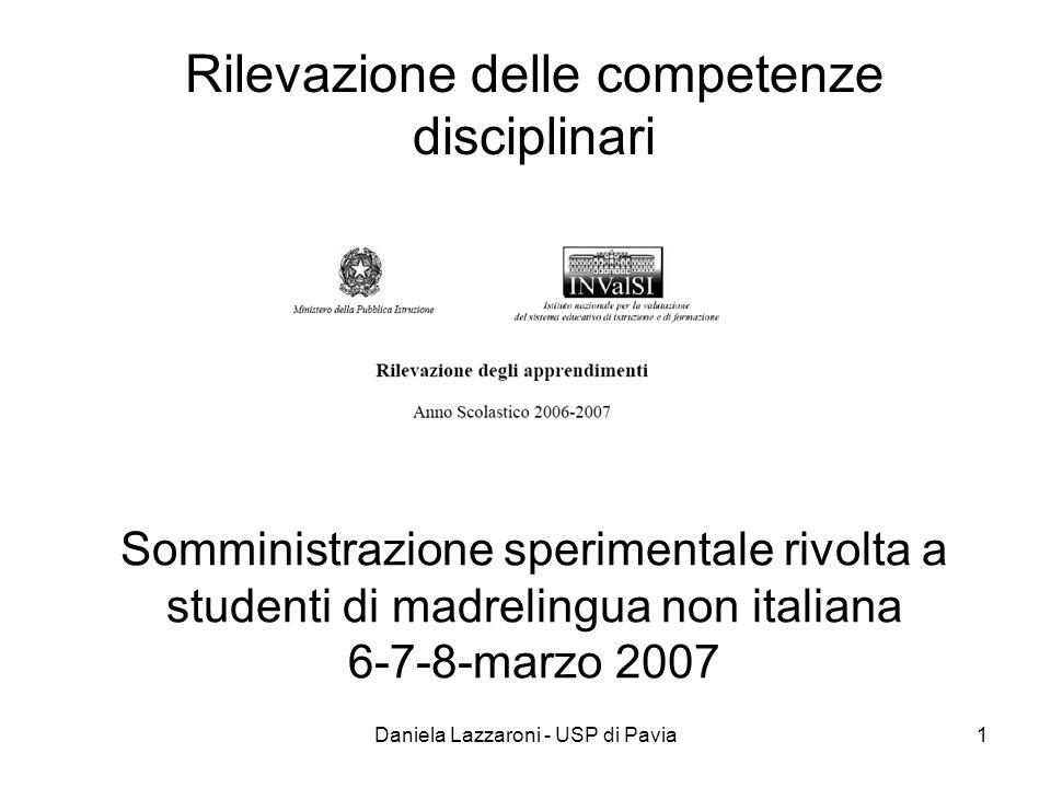 Rilevazione delle competenze disciplinari