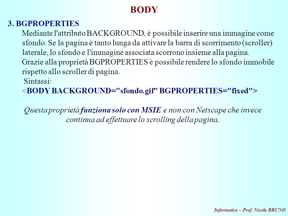 BODY 3. BGPROPERTIES.