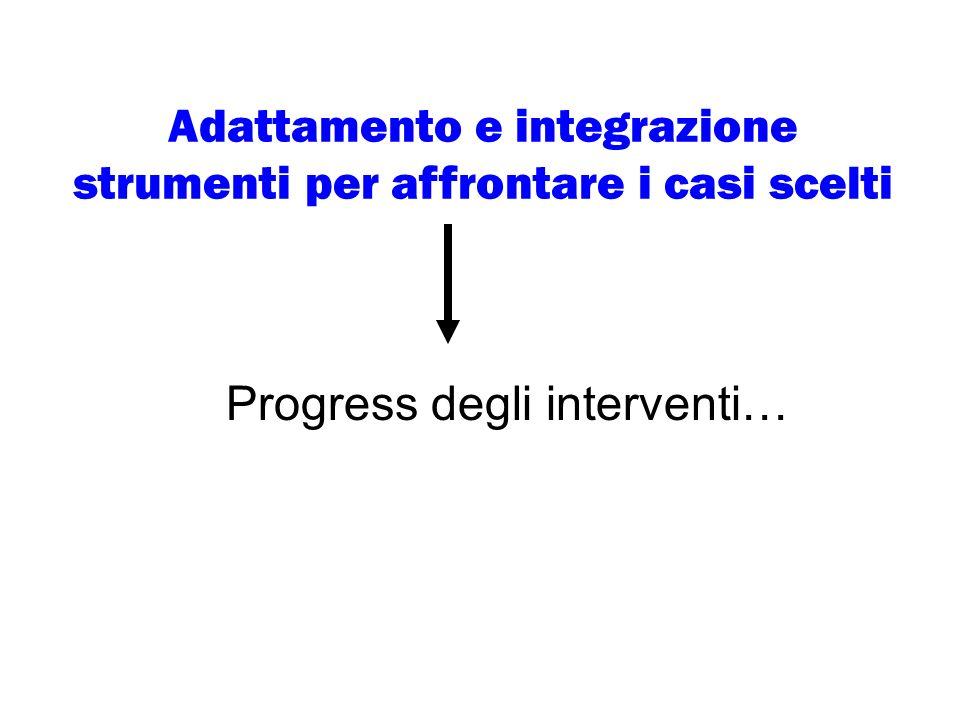 Adattamento e integrazione strumenti per affrontare i casi scelti