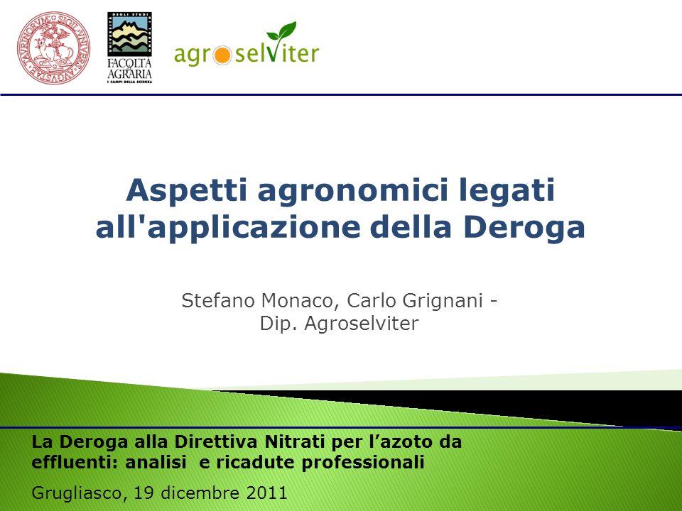 Stefano Monaco, Carlo Grignani - Dip. Agroselviter
