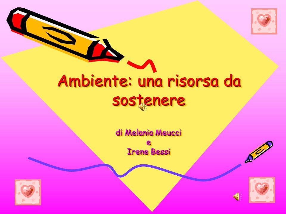 Ambiente: una risorsa da sostenere di Melania Meucci e Irene Bessi