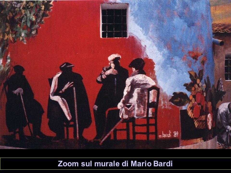 Zoom sul murale di Mario Bardi
