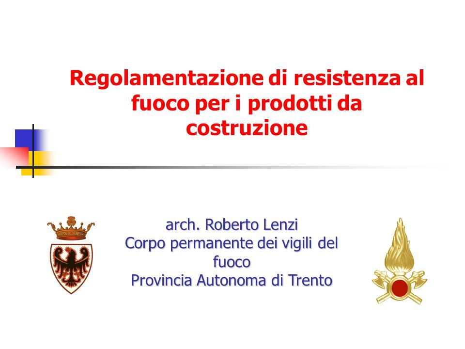 Regolamentazione di resistenza al fuoco per i prodotti da costruzione