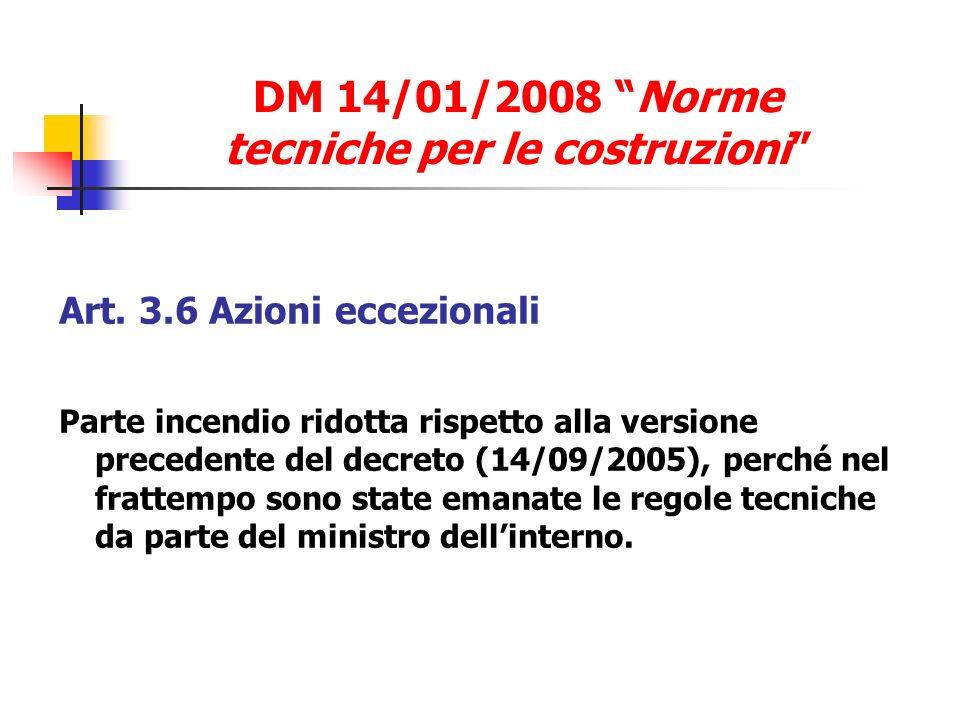 DM 14/01/2008 Norme tecniche per le costruzioni