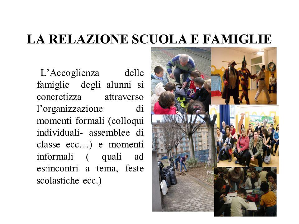 LA RELAZIONE SCUOLA E FAMIGLIE