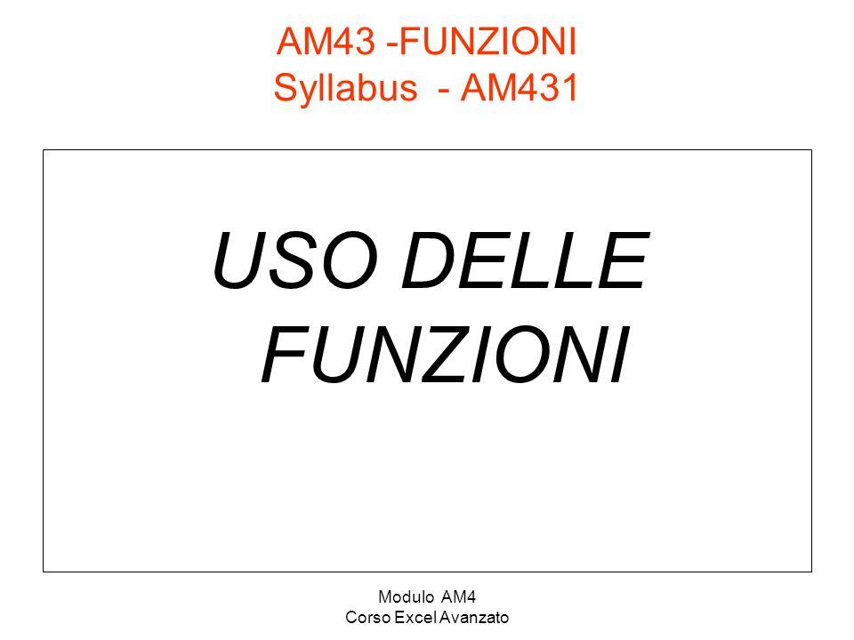 AM43 -FUNZIONI Syllabus - AM431