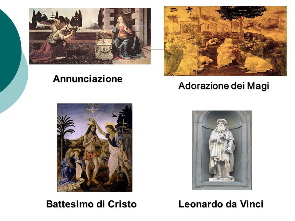 Annunciazione Adorazione dei Magi Battesimo di Cristo Leonardo da Vinci