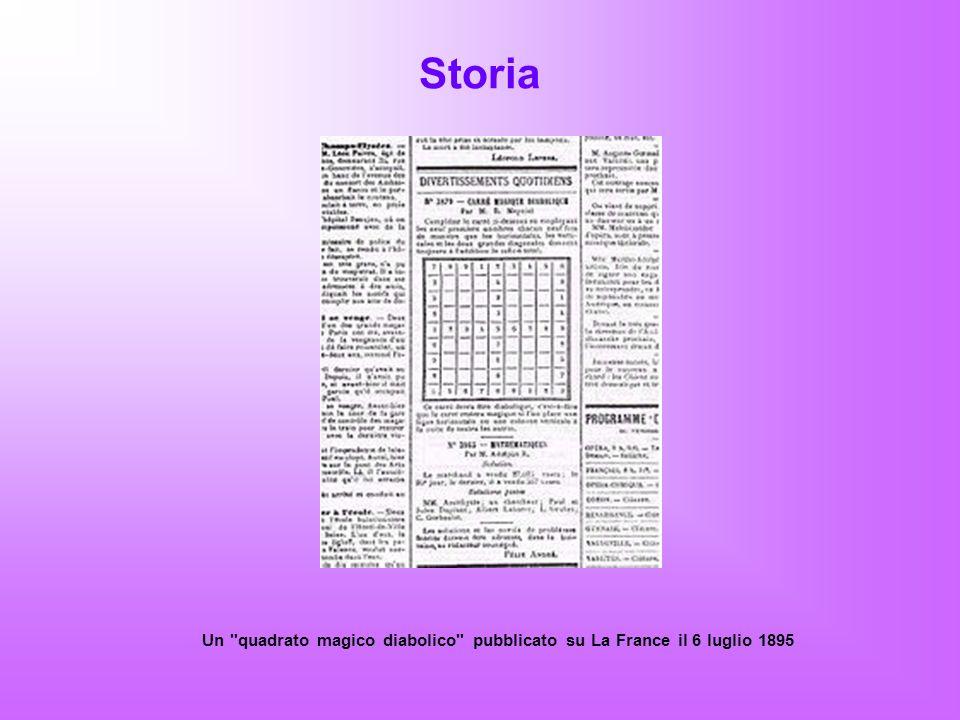 Storia Un quadrato magico diabolico pubblicato su La France il 6 luglio 1895