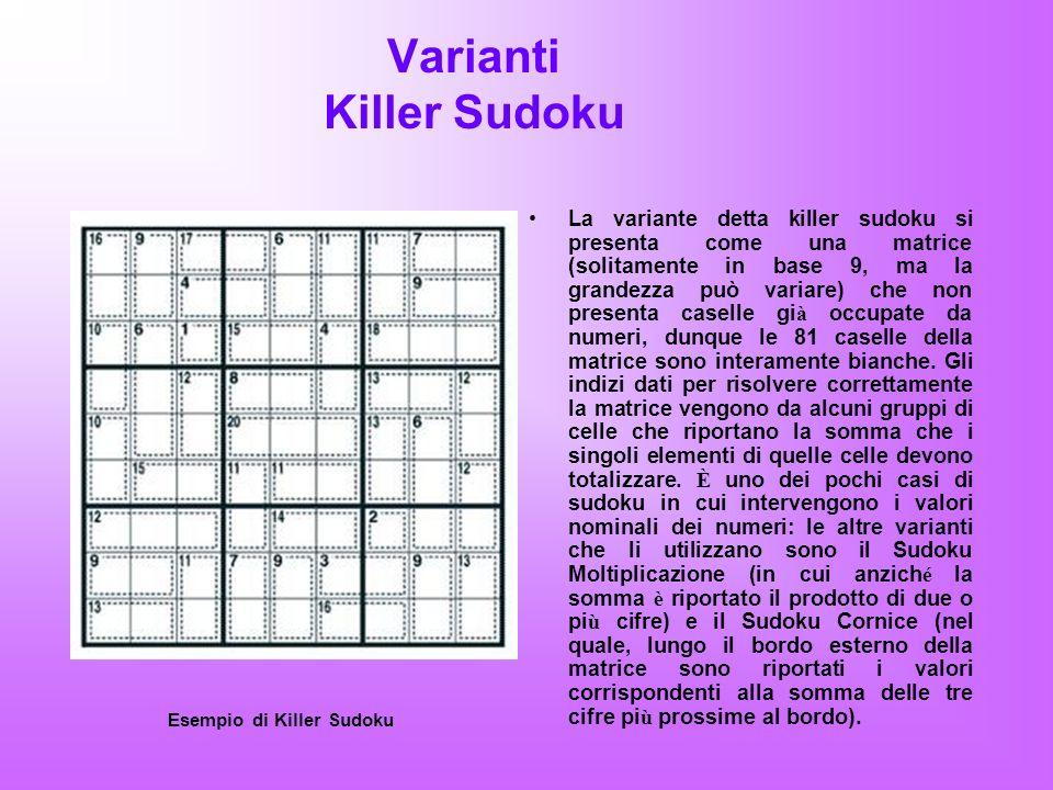Varianti Killer Sudoku