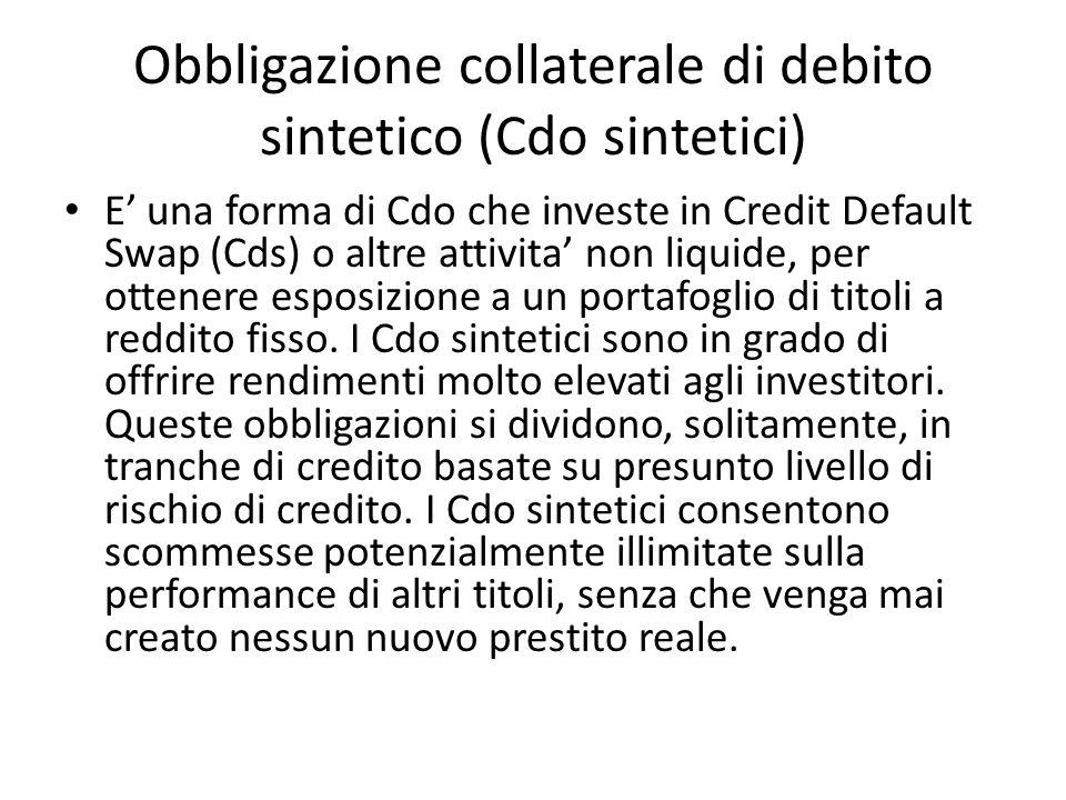 Obbligazione collaterale di debito sintetico (Cdo sintetici)