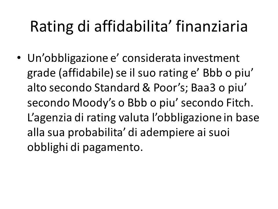 Rating di affidabilita' finanziaria
