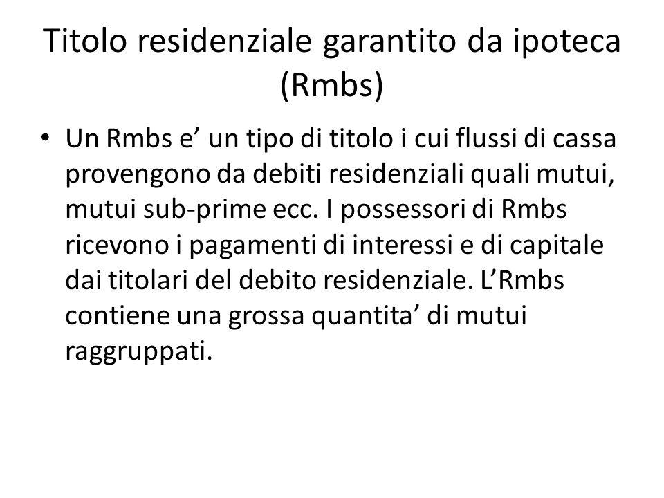Titolo residenziale garantito da ipoteca (Rmbs)