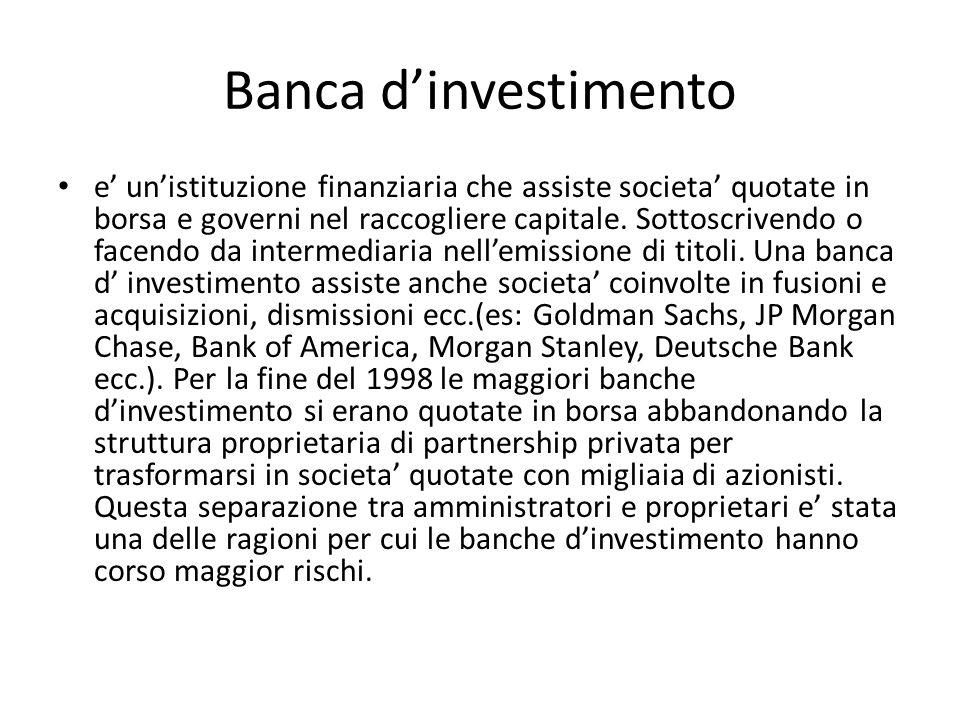 Banca d'investimento