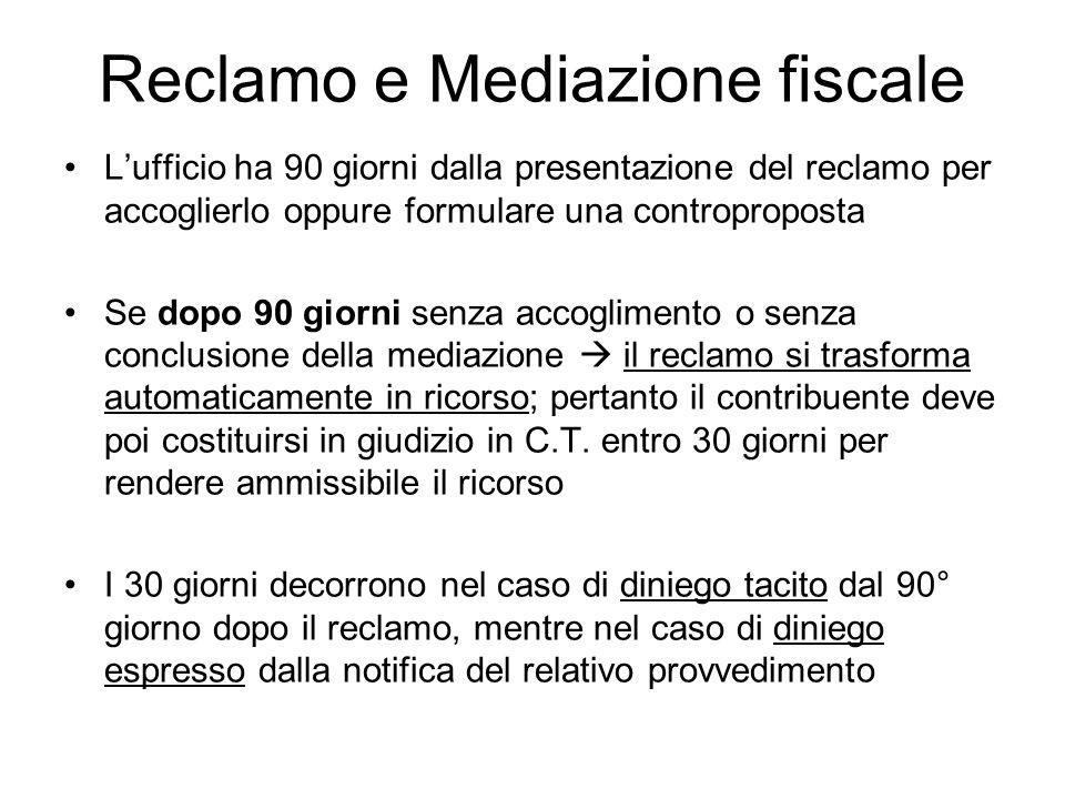 Reclamo e Mediazione fiscale