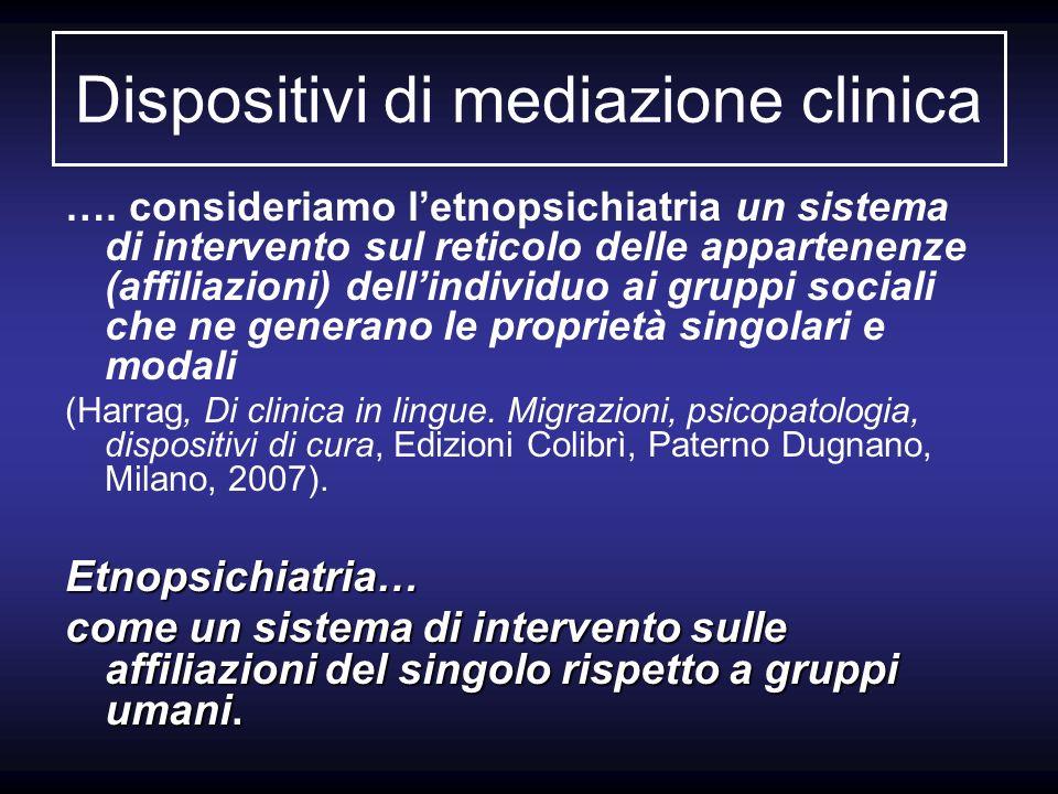 Dispositivi di mediazione clinica
