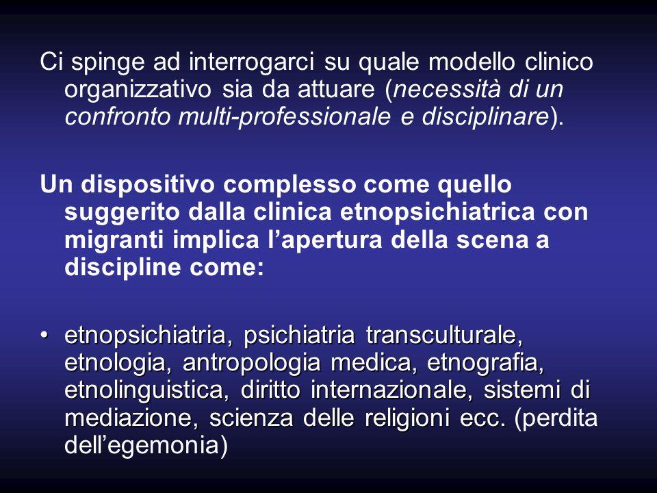 Ci spinge ad interrogarci su quale modello clinico organizzativo sia da attuare (necessità di un confronto multi-professionale e disciplinare).