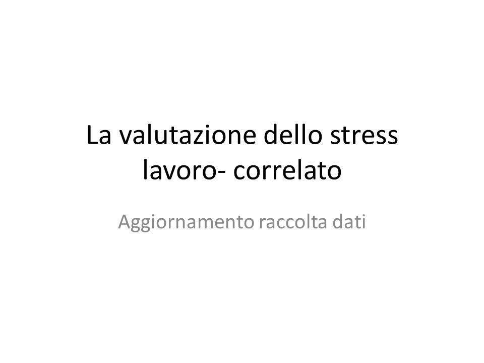 La valutazione dello stress lavoro- correlato