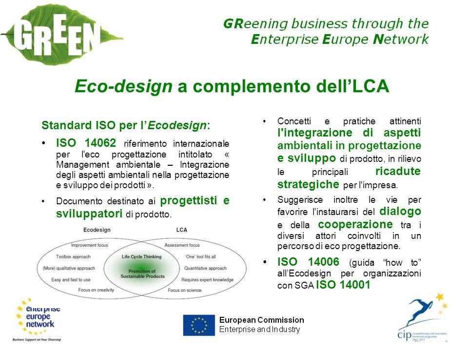 Eco-design a complemento dell'LCA