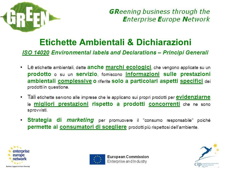 Etichette Ambientali & Dichiarazioni
