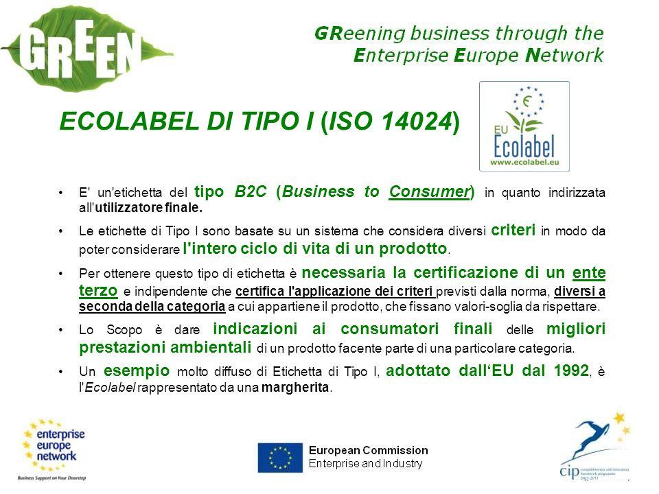 ECOLABEL DI TIPO I (ISO 14024)