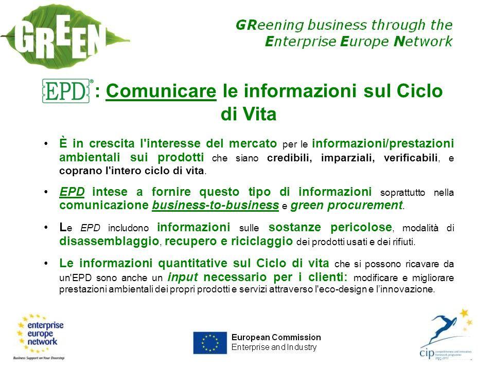 EPD: Comunicare le informazioni sul Ciclo di Vita