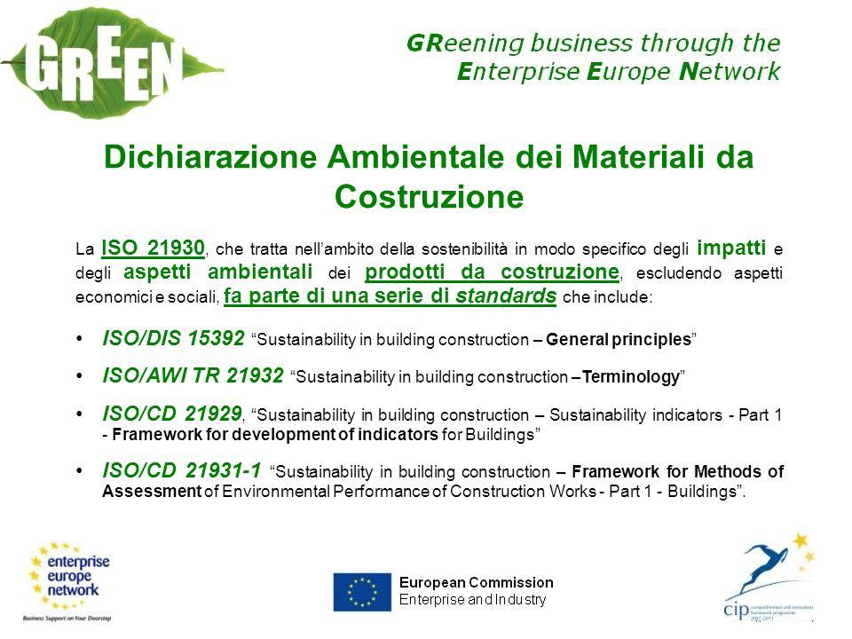 Dichiarazione Ambientale dei Materiali da Costruzione