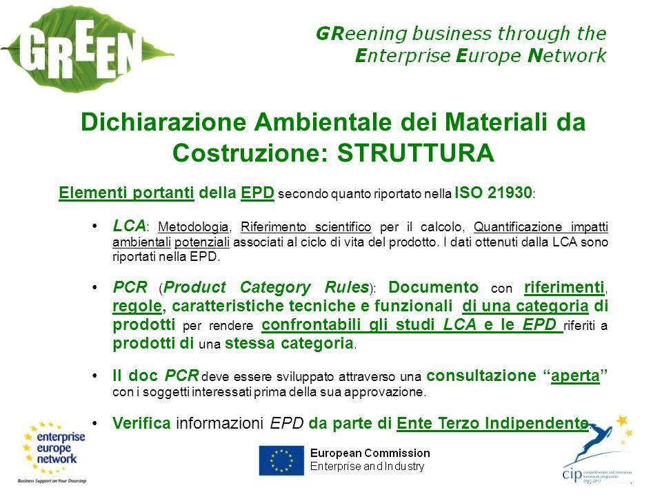 Dichiarazione Ambientale dei Materiali da Costruzione: STRUTTURA
