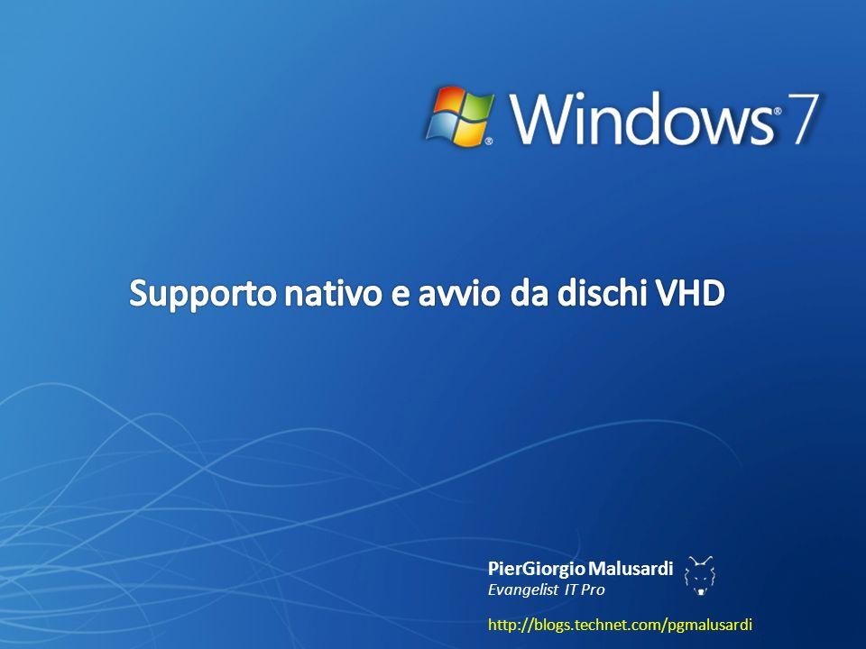 Supporto nativo e avvio da dischi VHD