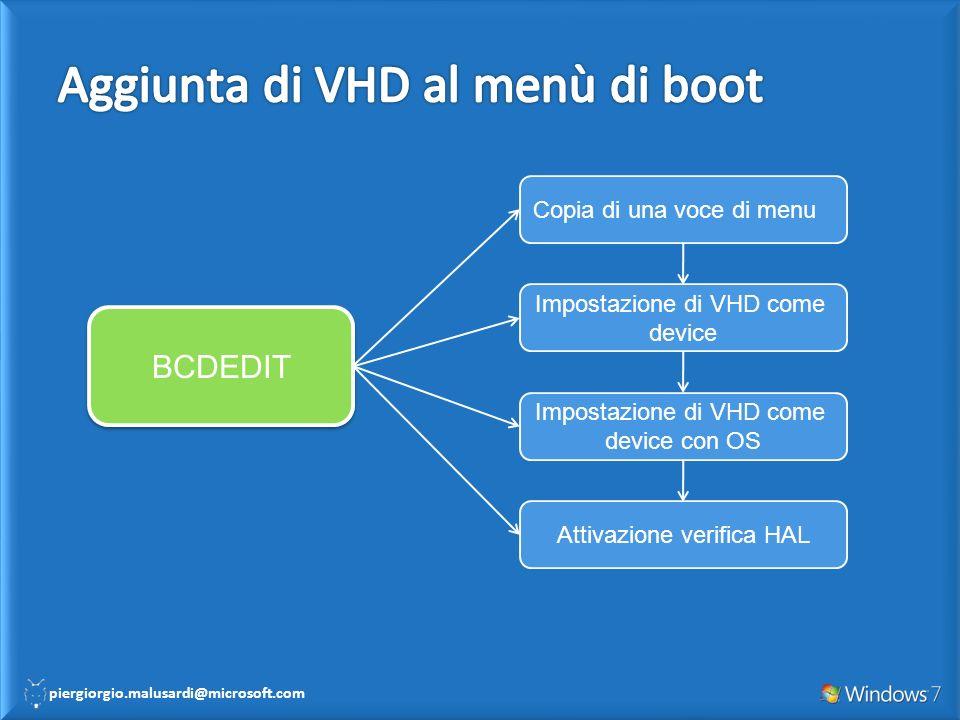 Aggiunta di VHD al menù di boot