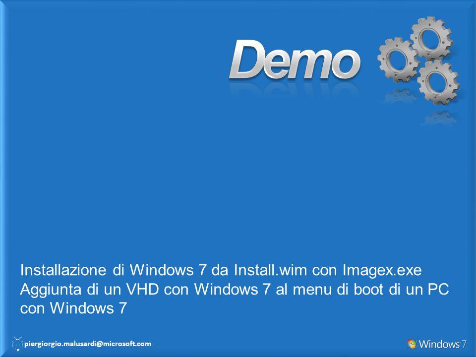 Demo Installazione di Windows 7 da Install.wim con Imagex.exe