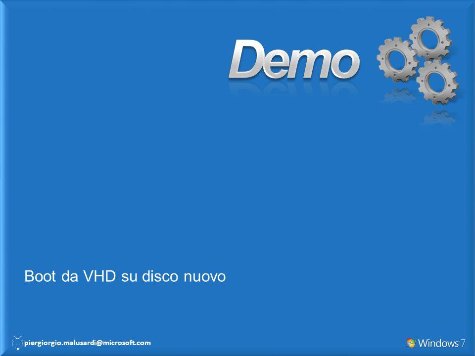 Demo Boot da VHD su disco nuovo