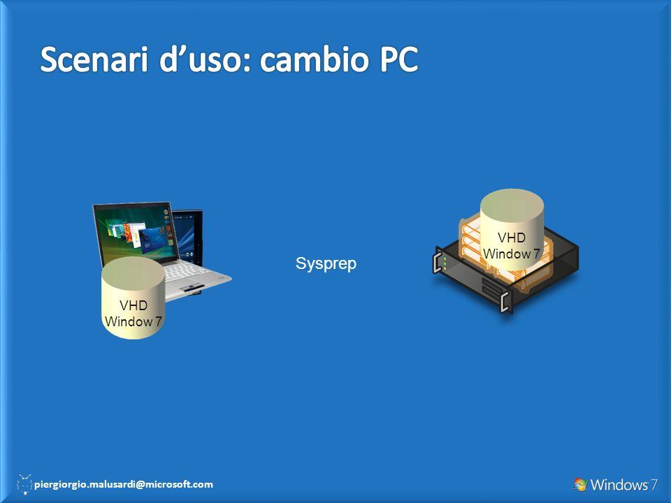 Scenari d'uso: cambio PC