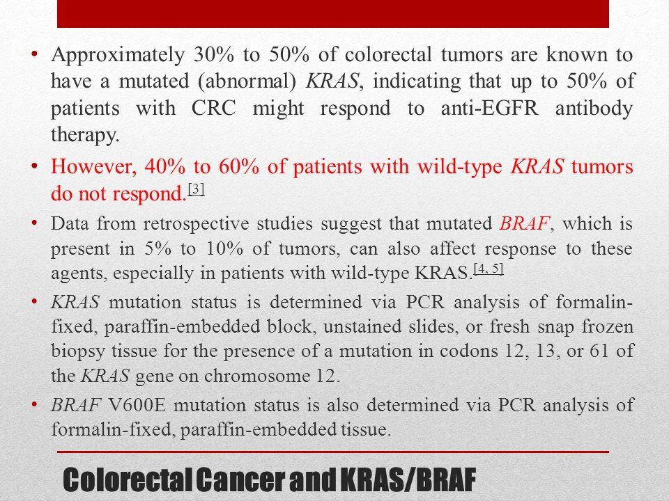 Colorectal Cancer and KRAS/BRAF